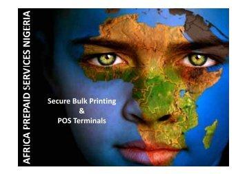 Secure Bulk Printing & POS Terminals - Blue Label Telecoms