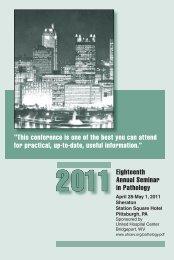 Annual Seminar in Pathology - United Hospital Center