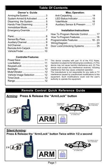 K 9 car alarm Manual Espa Ol Ungo Car Alarm Wiring Diagram on