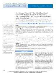 Predictive and Prognostic Value of Peripheral Blood Cytokeratin-19 ...