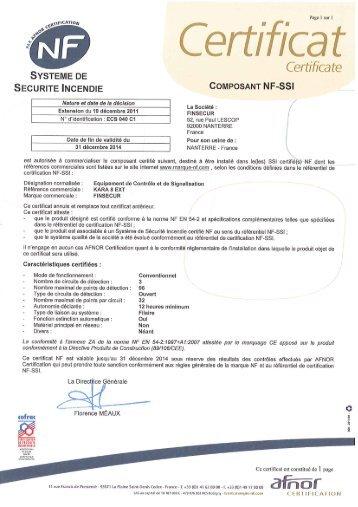 certif composant FINSECUR KARA8 EXT ECS-040-C1 31-12-2014.pdf