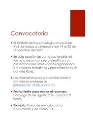 Convocatoria - Instituto de Neurobiología - UNAM