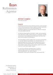 Michael Jungblut - Econ Referenten-Agentur