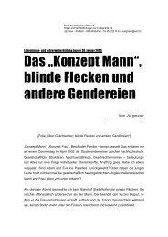 blinde Flecken und andere Gendereien - Unternehmen Wort ...