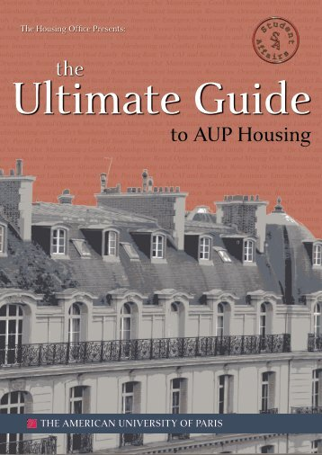 to AUP Housing the - MyAUP - The American University of Paris