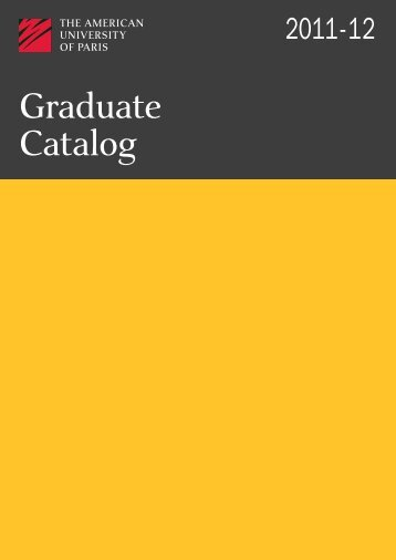 Graduate Course Catalog August 2011.pdf - MyAUP - The American ...