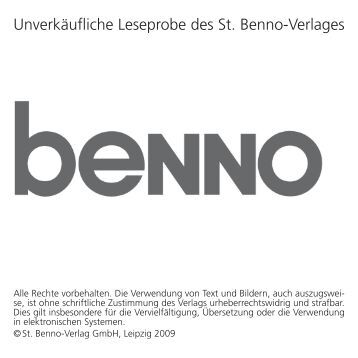 Unverkäufliche Leseprobe des St. Benno-Verlages - Reuffel