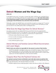 Detroit Women and the Wage Gap - National Partnership for Women ...