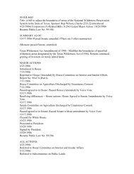 99 Bill Tracking H.R. 4685 - Wilderness.net