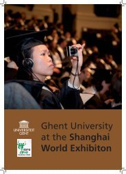 Ghent University at the Shanghai World Exhibiton