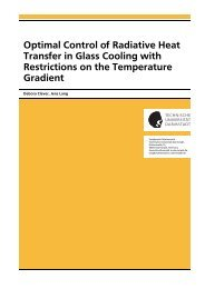 Optimal Control of Radiative Heat Transfer in Glass Cooling with ...