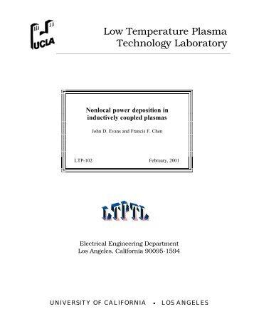 Low Temperature Plasma Technology Laboratory - UCLA Engineering