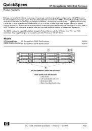 HP StorageWorks D2000 Disk Enclosures