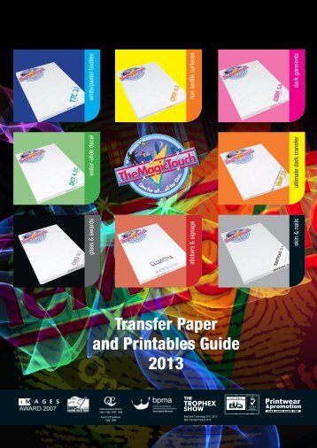 Transfer Paper and Printables Guide 2013 - TheMagicTouch