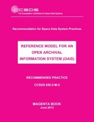 Reference Model for an Open Archival Information System ... - CCSDS