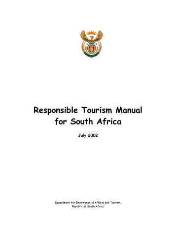Responsible Tourism Manual - Tourism Knowledge Portal