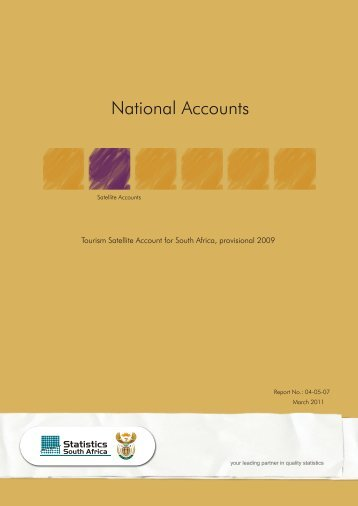 Tourism Satellite Account for South Africa provisional 2009