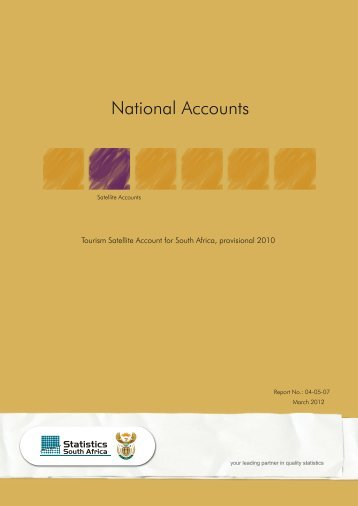 Tourism Satellite Account for South Africa, provisional 2010