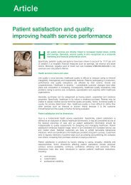 Patient satisfaction and quality: improving health service performance