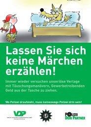 Inserenten Märchen Hilden - Verlag Deutsche Polizeiliteratur