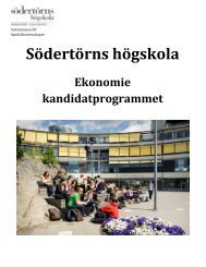 Utbildningsexpedition ME509 - Södertörns högskola
