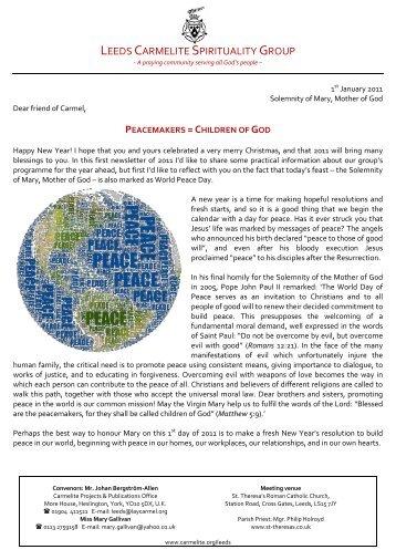 Leeds CSG Newsletter 8 - British Province of Carmelite Friars
