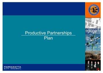 Productive Partnerships Plan - Parramatta City Council