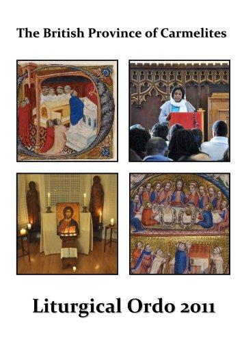 ORDO 2004 - British Province of Carmelite Friars
