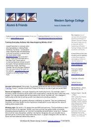 Western Springs College Alumni & Friends