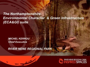 Northamptonshire's ECA & GI suite - Practical applications Part 1
