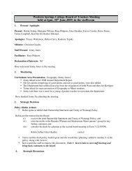 Minutes of Meeting - Western Springs College