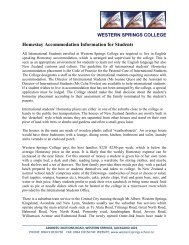 Homestay Accommodation Information for Students - Western ...