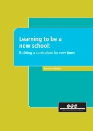 Learning to be a new school: - New Zealand Council for Educational ...