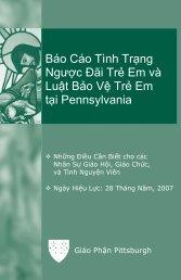 Báo Cáo Tình Trạng Ngược Đãi Trẻ Em và Luật Bảo Vệ Trẻ Em tại ...
