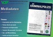 Mediadaten Die Kriminalpolizei - Verlag Deutsche Polizeiliteratur