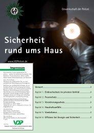 Sicherheit rund ums Haus Vorwort - Verlag Deutsche Polizeiliteratur