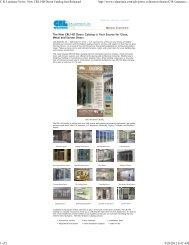 C.R. Laurence - New CRL Glass, Metal and Screen Door Catalog