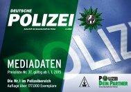 'Deutsche Polizei', Mediadaten. - GdP