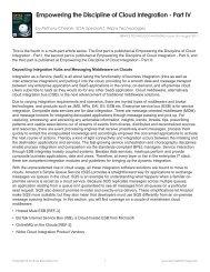 Empowering the Discipline of Cloud Integration - Part IV - Service ...