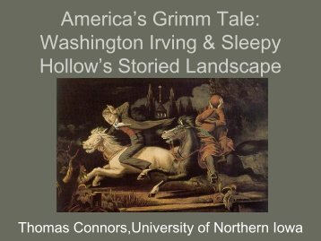 Washington Irving & Sleepy Hollow's Storied Landscape - American ...