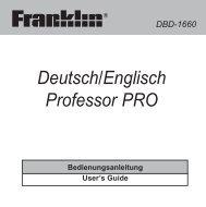 Deutsch/Englisch Professor PRO - Franklin Electronic Publishers