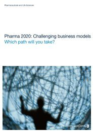 Pharma 2020: Challenging business models - Which path will ... - PwC