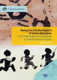 Giving Voice to the Impacts of Values Education The Final Report of ...