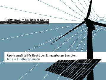 Recht der Erneuerbaren Energien - Dr. Reip und Köhler ...
