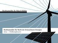 Das neue EEG 2012 - Dr. Reip und Köhler, Rechtsanwälte