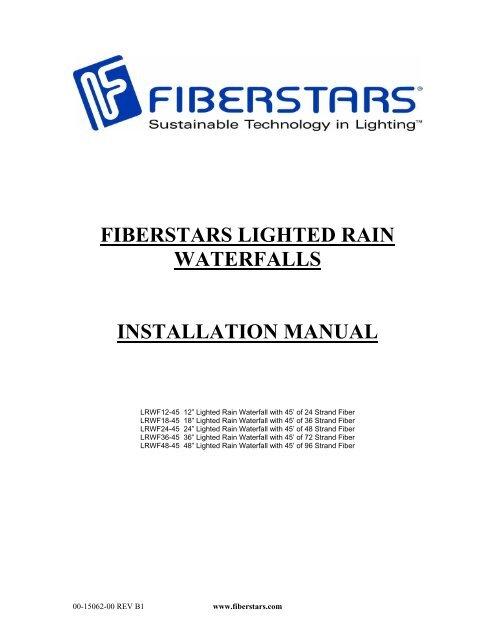 Fiberstars Lighted Rain Waterfalls Installation Manual