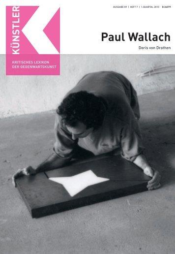 Paul Wallach - Zeit Kunstverlag