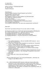 Arbejdsgruppe vedr. registrering og terminologi 25. februar 2011