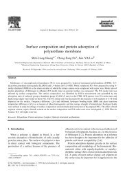 Surface composition and protein adsorption of polyurethane ...