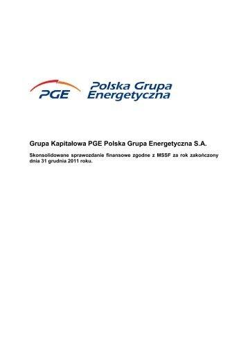 Skonsolidowane sprawozdanie finansowe Grupy Kapitałowej PGE ...